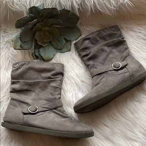 Roxy gray slouch my ankle boot size 7